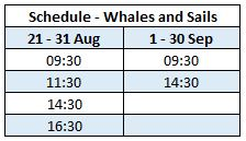 Schedule Whale watching on a sail boat schooner Iceland