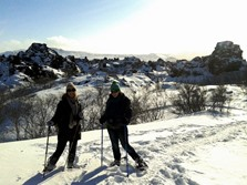 Search for the Trolls - Snow Shoe Hike at Lake Mývatn, North Iceland