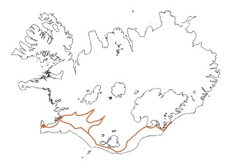 Map - The South Coast of Iceland