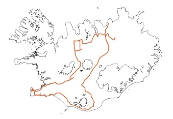 Map - Across Iceland on Highland Routes Kjölur and Sprengisandur